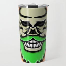 Bearded Skull or Cranium Mascot Travel Mug