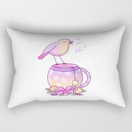 Tea Bird Rectangular Pillow