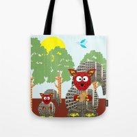 kangaroo Tote Bags featuring Kangaroo by Design4u Studio