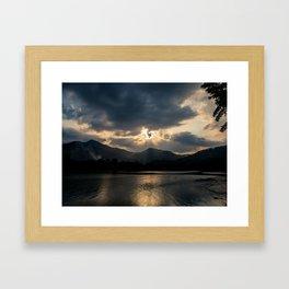 Shining Eye on the Sky Framed Art Print