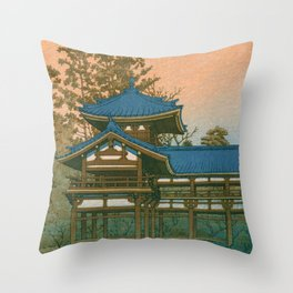 HOUODO - Kawase Hasui Throw Pillow