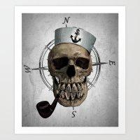 HOLD FAST  (skull series 1 of 3) Art Print