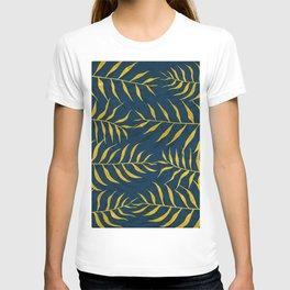 Golden Palm tree blue T-shirt