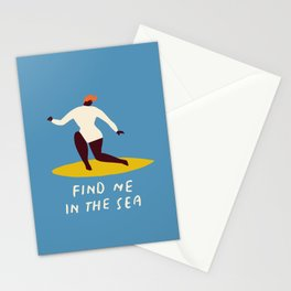 Find me in the sea Stationery Cards