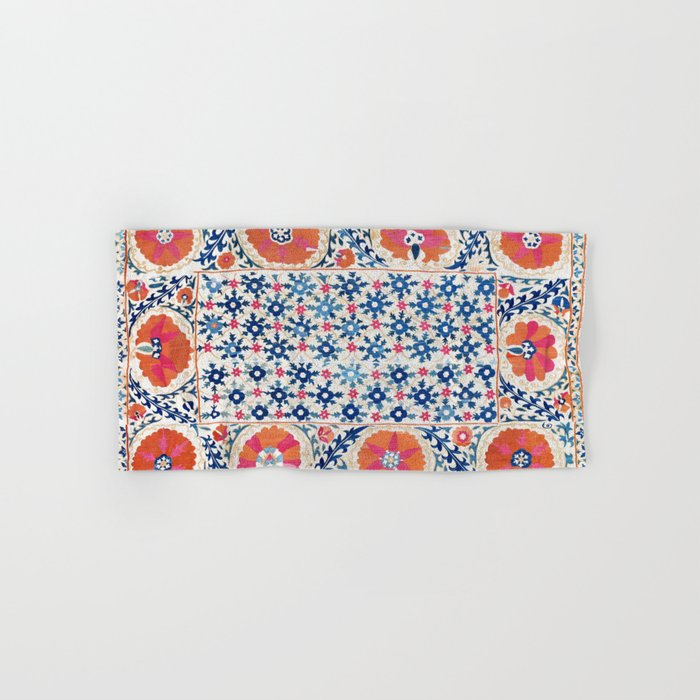 Bokhara Nim Suzani Southwest Uzbekistan Embroidery Print Hand & Bath Towel