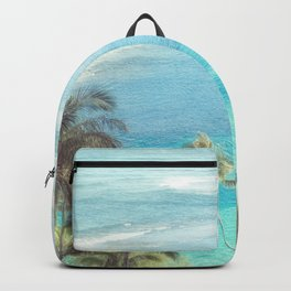 Dreamy Palm Beach Landscape Backpack