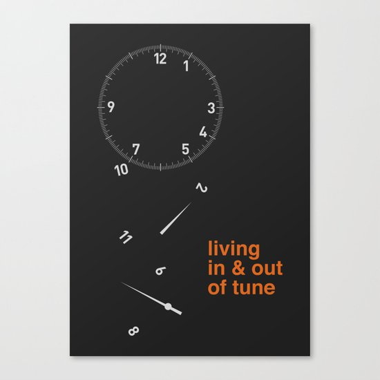 living in & out of tune Canvas Print