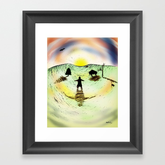 "Into the Sun - From ""Helpers"" Framed Art Print"