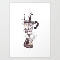If all else fails, Coffee! Art Print