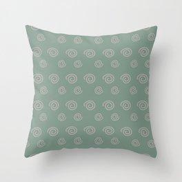 Petro Swirls Throw Pillow