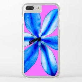 Little Blue Flower Clear iPhone Case