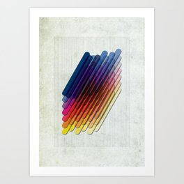 LollyStick Rainbow Art Print