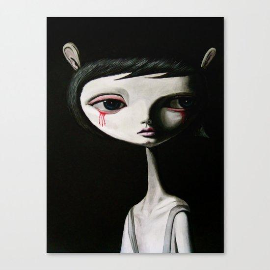 sad blood drop Canvas Print