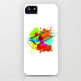 Harmonica gift for harmonica musicians iPhone Case
