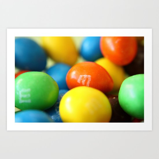 Colourful M&M's Art Print