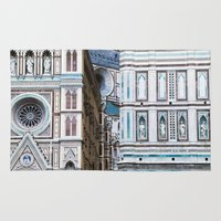 florence Area & Throw Rugs featuring Florence  by Chernyshova Daryna