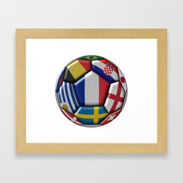 Russia 2018 - football ball with various flags Framed Art Print