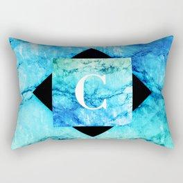 C - Monogram Vivids Rectangular Pillow
