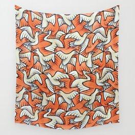 Birdwatching Bali Birds Ornithology Tessellation Wall Tapestry