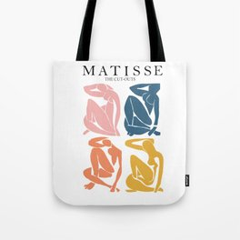 Abstract woman pastel color matisse woman artwork the cut outs Tote Bag