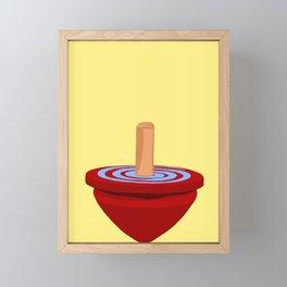 Red Spinning Top Framed Mini Art Print