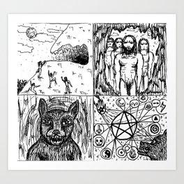 Ancient Warlock Nightstalkers Art Print