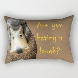 A funny duck Rectangular Pillow