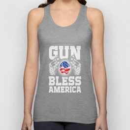 GUN BLESS AMERICA Unisex Tank Top