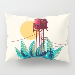 Potted house with plants Pillow Sham