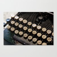 writer Canvas Prints featuring Writer by PhotoGalJan