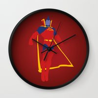 gladiator Wall Clocks featuring Confidence!  Kallark, The Gladiator by Timmy D. Matias