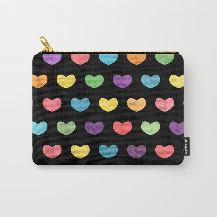 Colorful hearts II Carry-All Pouch
