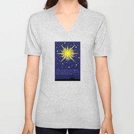 stars & crosses (luke2:14)  Unisex V-Neck