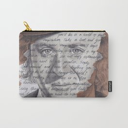 Willy Wonka Portrait with Pure Imagination Lyrics Carry-All Pouch