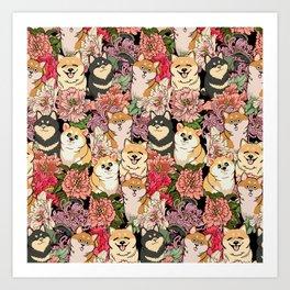 Because Shiba Inu Art Print
