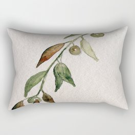 Olive Twig I Rectangular Pillow