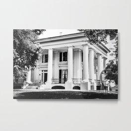 Taylor Grady House in BW Metal Print