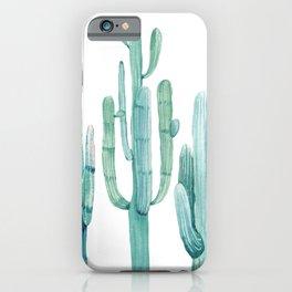 Cacti Fam Turquoise iPhone Case