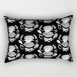 Burger Diagram (Black and White variant) Rectangular Pillow