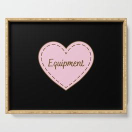 I Love Equipment Simple Heart Design Serving Tray