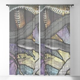 Dragon Snake Sheer Curtain