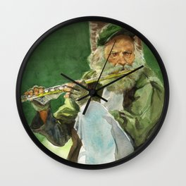 Flutist Wall Clock