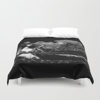 hercules Duvet Covers featuring Maenad Rising by AF Knott