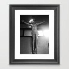neon jesus. Framed Art Print