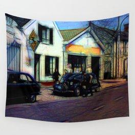 Vintage Garage Wall Tapestry