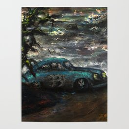 Pikes Peak (oil on canvas) Poster