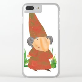 Wilhelmina the Gnome Clear iPhone Case