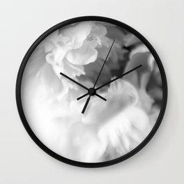 Blured white peonies Wall Clock