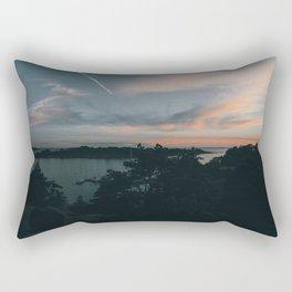 Sunset over Brännskär Rectangular Pillow