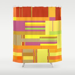 Scandinavian Moon (Fruit Colours) Shower Curtain